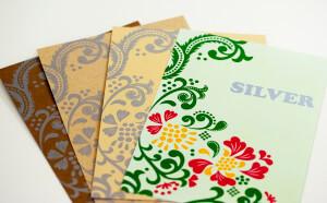 表紙シルバー印刷