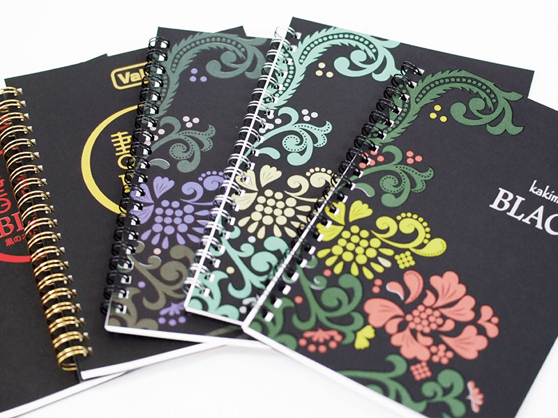 書きま帳+BLACKシルバー+カラー印刷