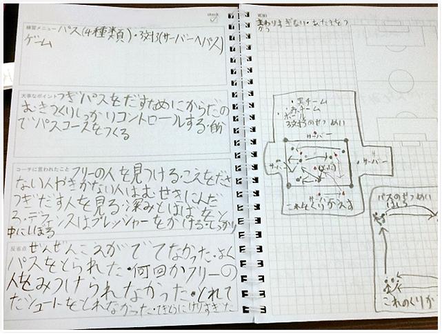 オリジナルサッカーノート(大津...