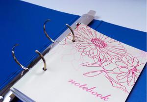 「本文穴あけ加工」でノートをファイリング